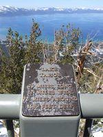 Lake Tahoe Fact Plaque
