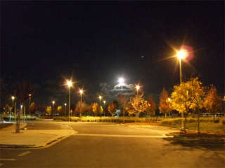 Full Moon over the Parking Lot